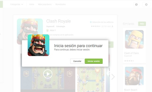 Como Iniciar sesion en Clash Royal