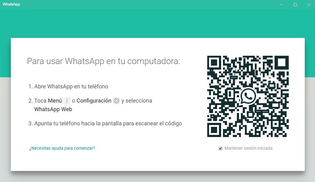 WhatsApp código QR de acceso por ordenador a Whatsapp WEB