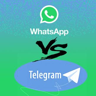 Usar WhatsApp o Telegram